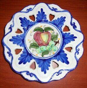 BEAUTIFUL SPANISH PLATE / WALL HANGER FRUIT 21CMS (B)