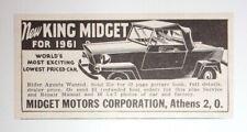 1961 King Midget Advertisement Midget Motors Corporation