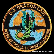U-2 DRAGON LADY #1 - IN GOD WE TRUST - OTHERS WE MONITOR - USAF - DOD NRO PATCH