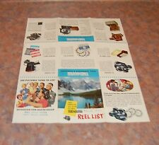March 1953 Sawyer View Master Reel List Brochure