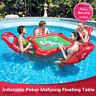 4-Person Summer Pool Games Inflatable Poker Mahjong Floating Table Water Games