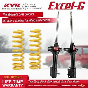 Rear KYB EXCEL-G Shock Absorbers STD King Springs for FORD Laser KF KH I4 FWD