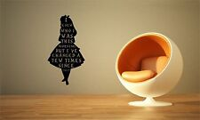 Alice in Wonderland inspired, I knew who I was, Wall Vinyl Decal Sticker