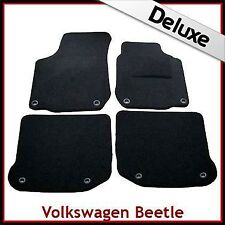 VW New Beetle 1998 - 2011 Oval Eyelets Tailored LUXURY 1300g Carpet Car Mats