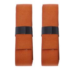 2 Badminton Tennis Sweat-Absorbent Overgrip Tape Racket Cowhide Leather Wrap