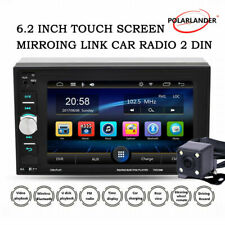 6.2'' 2 Din Car Radio Touch Screen  FM MP5 Player +Camera BT Mirror Link Stereo