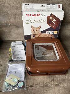 NEW Cat Mate Elite 4 Way locking Brown cat flap