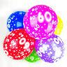 60th Ballons Anniversaire avec Imprimé Numéros Fête Latex Qualité- Paquet de 10