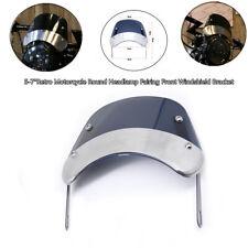 "5-7""Retro Motorcycle Round Headlamp Fairing Front Windshield Cover Iron Bracket"