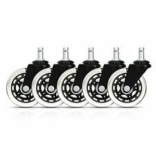 Rollerblade style Office Chair Caster Replacement Wheels (Set of 5)