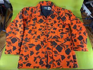 Vintage SafTbak M Coat blaze orange urban camo hunting jacket Made In USA