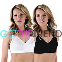 Women Ladies Full Coverage Bra Non Wired Non Padded Ladies Cotton Womens Bras