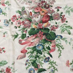 Croscill English Garden Shower Curtain, VTG Cottage Floral Pattern,GUC