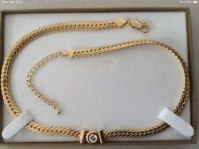 Necklace with Cubic Zirconia Gold plated Elegant Choker. BRAND NEW.Gift boxed.
