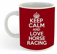 Keep Calm And Love Horse Racing  Mug - Maroon