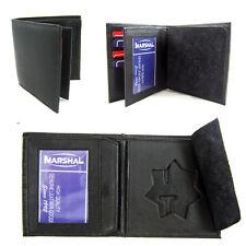 Police Star Shield Id Wallet Leather Badge Holder Sherrif Officer Black Card Id