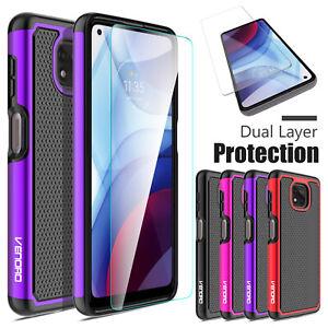 For Motorola Moto G Power 2021 / 2020 / G7 Power Rubber Case + Screen Protector