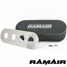 RAMAIR Twin Carb Bolt On Air Filters With Baseplate Talbot Sunbeam & Samba 100mm