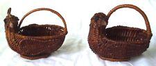 2 Small Chicken  Baskets Planter Centerpiece Decoration