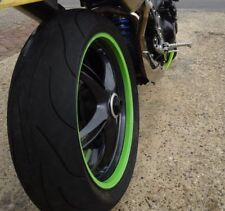 Kawasaki Ninja Lime Green Rim Wrap Stripes Decals Wheel Tape Stickers ZX6R ZX7R
