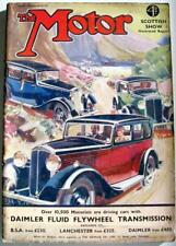 The MOTOR 21 Nov 1933 Motoring Car Magazine Scottish Show Report Morris Ten Six