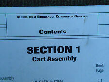 Bourgault Model 540 Eliminator Sprayer Parts Catalog