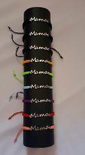 Pulsera mecrame hecho a mano Handmade co  placa MAMA hilo colores varios
