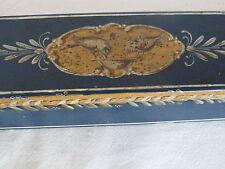 Antique French Tole Ladies Fan Box