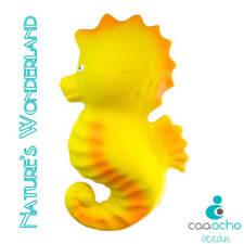 CaaOcho Ocean - Nalu the Seahorse Natural Rubber Bath Toy - Hermetically sealed,