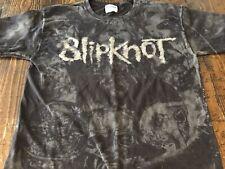 VTG Slipknot Metal Band All Over Print Dark Faces Short Sleeve T-Shirt Size M