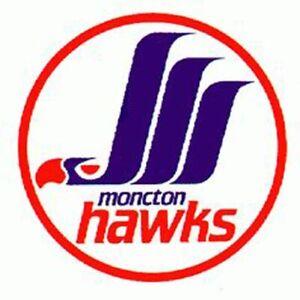Moncton Hawks AHL1987-93 Logo Mens Polo Shirt XS-6XL, LT-4XLT Winnipeg Jets New