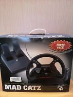 Mad Catz Steering Wheel And Foot Pedal Complete In Original Box Nintendo 64