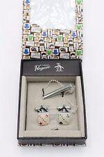 Original Penguin by Munsingwear Cufflinks & Tie Clip Set in Giftbox Diamond Club