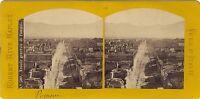 Pompei Panorama Italia Foto R. Rive Stereo Vintage Albumina Ca 1870