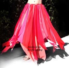 Chiffon Petal Skirt Pink Multicolor Ameynra design for belly dance. Size S New