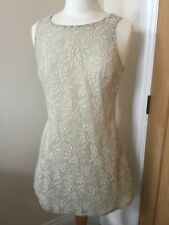 Topshop 10 A Line Dress In Overlay Lace.