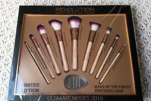 Professional Make Up Brush Set REVOLUTION Ultimate Nudes 9 Brushes Sponge Makeup