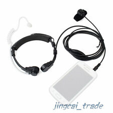 HeavyDuty Throat Vibration Mic Acoustic Tube Headset for Mobile Phone 1pin 3.5mm