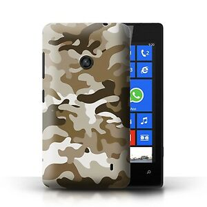 STUFF4 Case/Cover for Nokia Lumia 520/Camouflage Army Navy/Brown 1