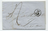 1849 New York to London stampless folded letter [H.464]