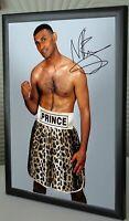 Prince Naseem Hamed Tribute Framed Canvas Print Signed Great Gift-Souvenir #2