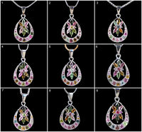 Natural Tourmaline Pendant 925 Solid Sterling Silver AAA Luxurious Vibrant Gems
