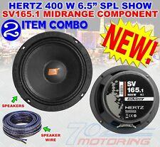"HERTZ SV165.1 6.5"" SPL SHOW 400W COMPONENT 4 OHM MIDRANGE CAR AUDIO SPEAKERS NEW"