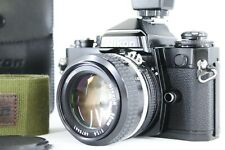 *N MINT+++* Nikon FE Black SLR 35mm Camera w/ Ai 50mm F1.4 Lens Strap From JAPAN