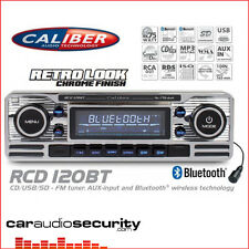 RCD120BT Classic Retro BLUETOOTH CD MP3 USB AUX Car Stereo Radio Player SILVER