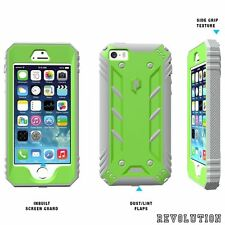 For iPhone SE / 5S / 5 POETIC Revolution Shockproof Hybrid Case Green / Gray