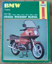 BMW TWINS HAYNES OWNERS WORKSHOP MANUAL 1970 To 1985