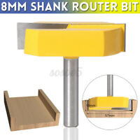Alloy Tipped Router Bit 8mm Shank CNC Spoilboard Surfacing Woodwork Milling  ∫
