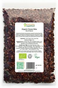 Raw Cacao Nibs ORGANIC & Raw Cacao Nibs Superfood by Everyday Superfood