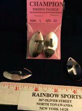 "June Bug Spinner Blades #4 Nickel (approx 1 5/8"" long) 20pk."